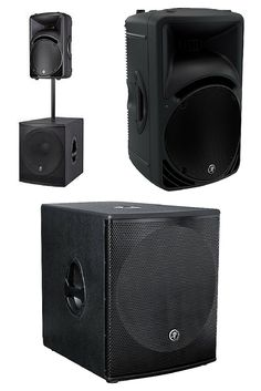 "These are my favorite mobile DJ speakers. The Mackie SRM450v3 1,000-Watt High-Definition Portable Powered Loudspeaker on top & a Mackie SRM1801 18"" 1000W Powered Subwoofer providing the big bottom end are perfect for a working DJ's portable speakers & outdoor speakers to DJ weddings, etc. because they are sturdy, durable & easy to get around. I can fit them in a Honda Civic! Get these awesome powered PA speakers at http://www.funkish.audio/dj-equipment-speakers/"