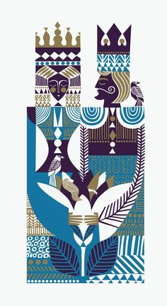 Märchenhafte Illustrationen Cool and cool pattern inspired by a deck of cards Art And Illustration, Illustration Design Graphique, Art Graphique, Illustrations Posters, Pattern Illustration, Arte Tribal, Inspiration Art, Grafik Design, Art Design