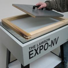 The Expo-NV Econ is a screen printing frame exposure unit with a focused-beam fluorescent tube system to ensure clean stencil definition. Diy Screen Door, Sliding Screen Doors, Wooden Screen, Screen Printing Frame, Screen Printing Equipment, Art Storage, Craft Room Storage, Glass Printing, Tv Decor