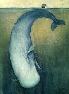 Moby Dick by Lisel Jane Ashlock ∞ #ColorfulART #OneUniverse #BeautifulBeing