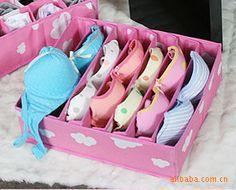 Delightful F199 Woman Must Incorporate High Seven Home Grid Clouds Bra Underwear  Storage Box Storage Box