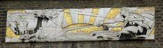 Gilbert Bayes Relief Work, London Fire Brigade HQ, Albert Embankment 1937