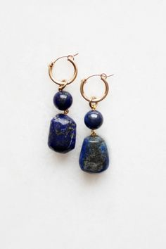 Semi-precious earrings in classic and limited edition styles featuring natural marble, Peruvian opal, moonstone and handmade tassels in silk or cotton. Star Earrings, Diy Earrings, Hoop Earrings, Antique Jewelry, Silver Jewelry, Weird Jewelry, Pretty Necklaces, Gold Filled Jewelry, Lapis Lazuli