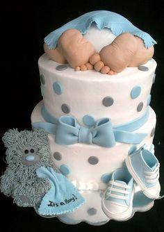 Inspiração de bolo para chá de bebê