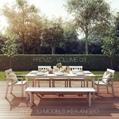 FREE 3D MODELS IKEA ANGSO OUTDOOR FURNITURE SERIES — PROVIZ | architectural rendering visualizations and 3D walkthrough animations