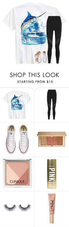 """""""comment your vsco! and follow me: lsg02"""" by lindsaygreys ❤ liked on Polyvore featuring Guy Harvey, NIKE, Converse, Estée Lauder, Clinique and Victoria's Secret"""