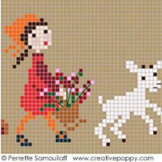 <b>Happy Childhood collection  - Red</b><br>cross stitch pattern<br>by <b>Perrette Samouiloff</b>
