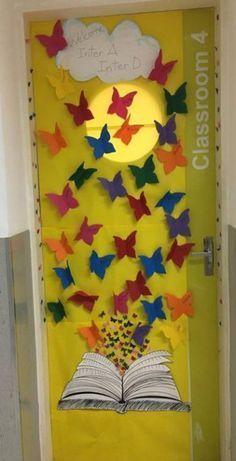 Ideally the lindas portas para volta às aulas - - Classroom Setting, Classroom Door, Preschool Classroom, Preschool Activities, Door Displays, Library Displays, School Door Decorations, School Doors, School Bulletin Boards