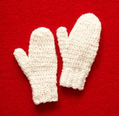 Free Crochet Pattern: Frosty Mittens  Lion Brand® Homespun®  Pattern #: L20305