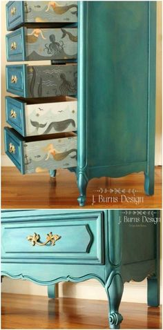 Home Furniture Wardrobe Painting Wooden Furniture Shabby Chic Referral: 4703087062 Teal Painted Furniture, Turquoise Furniture, Painting Wooden Furniture, Repurposed Furniture, Rustic Furniture, Home Furniture, Antique Furniture, Modern Furniture, Outdoor Furniture