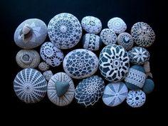 seacrochetcollectionheartrocksstoneshandmade