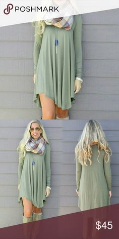 Casual Long Sleeve Loose Dress Beautiful Cotton Blend Dess, casual,  loose fitting dress Dresses