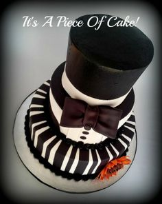 Black and White Buttercream/Fondant - by itsapieceofcake @ CakesDecor.com - cake decorating website