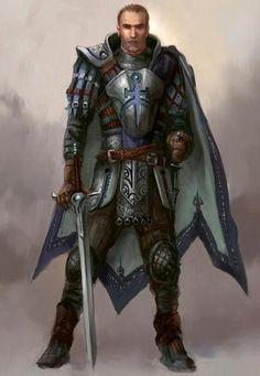 Imagen relacionada Fantasy Art Men, Fantasy Armor, Medieval Fantasy, Medieval Life, Dragon Age Origins, Dragon Age Inquisition, Fantasy Portraits, Character Portraits, Paladin