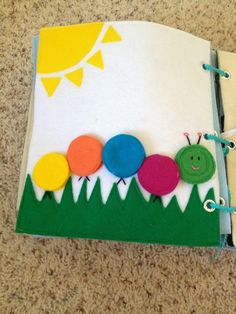 quiet book caterpillar color matching page