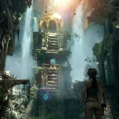 Screenshot of today's Rise of the Tomb Raider gameplay reveal. #tombraider #laracroft