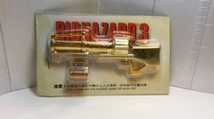 Rare Hong Kong Capcom Comic BIOHAZARD 3 Last Escape Promo Grenade Launcher + Grenades Golden Metal Toy Resident Evil by mycoffeeboy