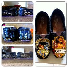 The Ultimate Painted Harry Potter Toms...I don't own any, but if I did, these would be the pair to own!