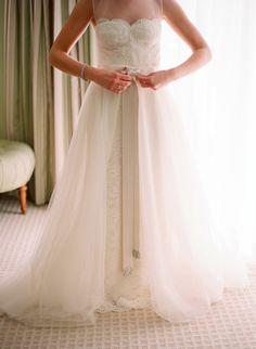 """Wedding Gown ~ Monique Lhuillier's """"Grace"""" ~ Photography by elizabethmessina.com"""