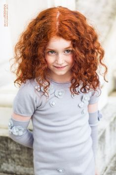 Everyone who knows me thinks that I would've looked like this as a child, but my hair was straight until I was 10.