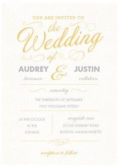 Daffodils Wedding Invitation SetSuite Invites by InvitationSnob