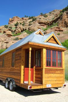"""Pare down live artfully think small."" A Jay Shafer home--Tumbleweed Tiny House Company. Building A Shed, Green Building, Building Plans, Tiny House Living, Cozy House, Small Living, Mini Cabins, Tumbleweed Tiny Homes, Tiny House Company"
