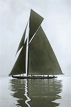 Shamrock IV, 1914 by Beken of Cowes Classic Sailing, Classic Yachts, J Class Yacht, Non Plus Ultra, Sail Away, Motor Yacht, Wooden Boats, Tall Ships, Water Crafts