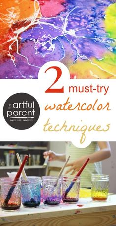 Two Must Try Watercolor Techniques Combined - Watercolor Resist + Salt Watercolor Tips, Watercolor Projects, Watercolour Tutorials, Watercolor Pencils, Watercolor Techniques, Watercolour Painting, Art Techniques, Painting & Drawing, Watercolors