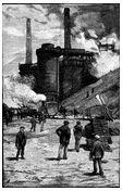 Blast furnaces at Swansea circa 1885