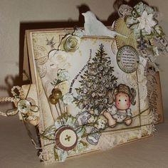 Magnolia card by Deb.x  X-mas Tree scene  image: Lying Tilda