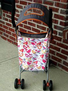 Stroller Makeover. And adding a bag for storage to your plain umbrella stroller.