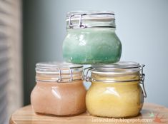 Make your own sugar scrub.