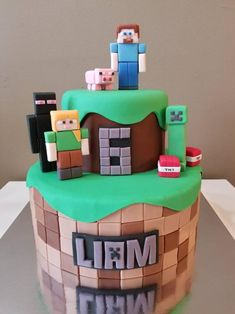 Discover recipes, home ideas, style inspiration and other ideas to try. Minecraft Cake Toppers, Minecraft Party Decorations, Minecraft Birthday Cake, Cake Minecraft, Minecraft Skins, Fondant Toppers, Edible Cake Toppers, Fondant Cupcakes, Cupcake Toppers
