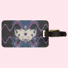 Purple Space Tags For Bags