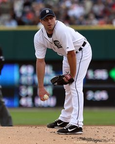 Image detail for -DETROIT, MI - SEPTEMBER 23: Max Scherzer #37 of the Detroit Tigers gets set for a pitch in the first inning against the Minnesota Twins at Comerica Park...