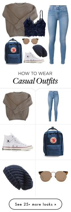 """casual"" by slutvangogh on Polyvore featuring American Apparel, Converse, Linda Farrow, Fjällräven and Phase 3"