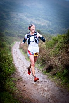 Emelie Forsberg flying through the mud