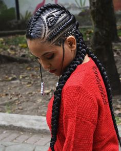 Jumbo Tribal Braids with Small Cornrows # tribal Braids mohawk 43 Badass Tribal Braids Hairstyles to Try Afro Hair Style, Hair Afro, Curly Hair Styles, Natural Hair Styles, Latest Braided Hairstyles, African Braids Hairstyles, Girl Hairstyles, Braid Hairstyles, Hairstyles 2018