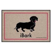 I Bark Dachshund Doormat -...