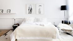 5 Tips for Mastering a Perfect White Bedroom// fur pillows, white bedroom