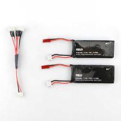 Hubsan H502S H502E RC Quadcopter Spare Parts 2 x 7.4V 15C 610mAh Battery& Charging Cable Set   Description:  Brand Name: Hubsan  Item No.: H502S-003  Item Name: Battery  Voltage: 7.4V  Capacity: 610mAh  Power:15C  Usage: for Hubsan H502S H502E X4 RC...