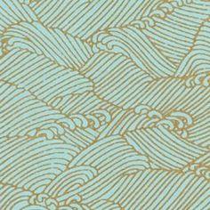 Yuzen Pool Gold Waves Fine Paper