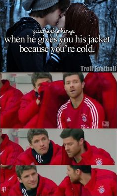 Thomas Müller and Xabi Alonso.