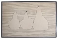 Enticing 3 Pears, Pen/Ink Drawing