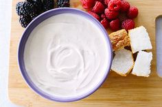 This sweet, slightly spiced fruit dip is made with sour cream. It's great served with cubes of pound cake or angel food cake.