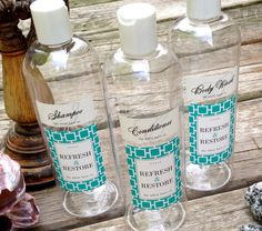 Decorative Mouth Wash, Dispenser Bottles, Guest Bath, Shower Dispenser  Bottles, Shampoo Bottles, Mouth Wash $8.00 | Pinterest | Support Small  Business