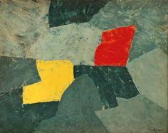 """Composition taches rouge et jaune"" – Serge Poliakoff 1954"