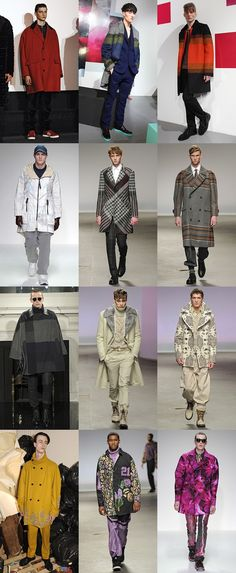 Men's Statement Outerwear on the LC:M AW13 Runways/Trends on fashion bean my favorite men's blog!