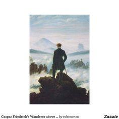 Caspar Friedrich's Wanderer above a Sea of Fog Canvas Print