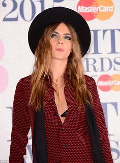 Cara Delevingne Goes Hipster Chic for BRIT Awards, Cool or Not?   Buy ➜ http://shoespost.com/cara-delevingne-saint-laurent-sandals-brit-awards-2015/